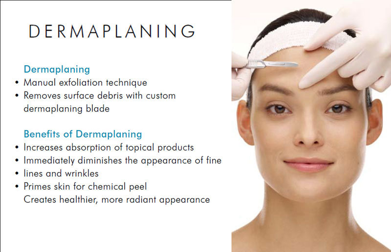 Dermaplaning Facial with light therapy