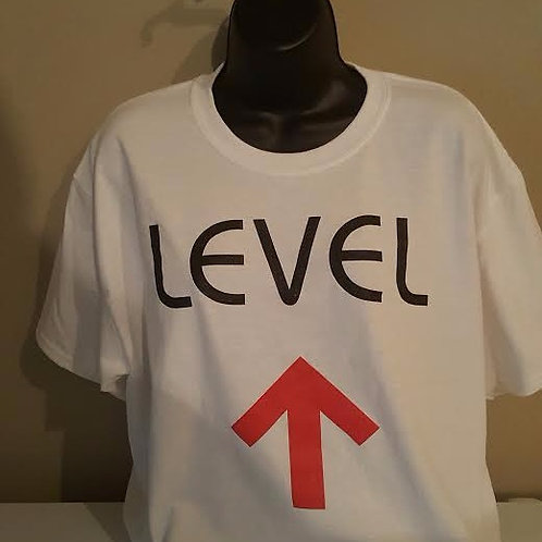 Level UP (white crew neck)