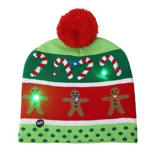 LED Christmas Candy Canes Hat