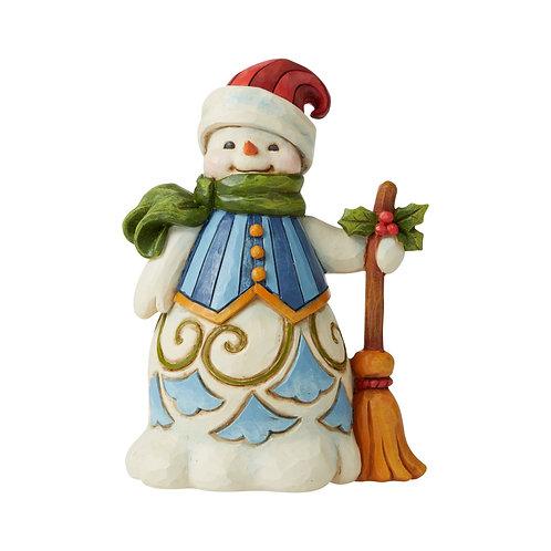 Pint Size Snowman w/ Broom