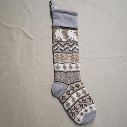 Bird Knit Stocking