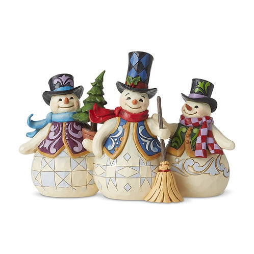 Three Snowmen Together