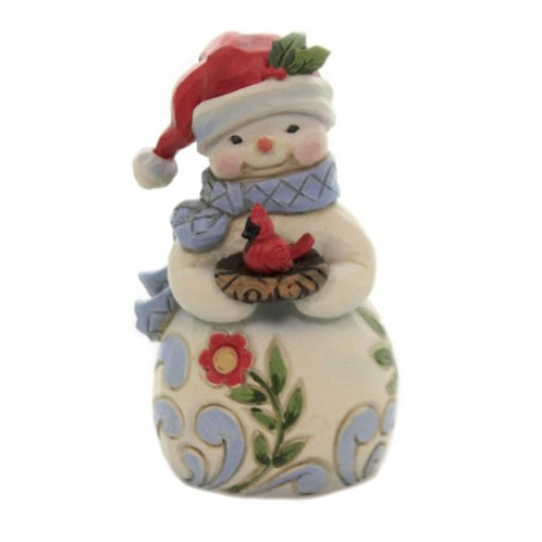 Mini Snowman w/ Cardinal