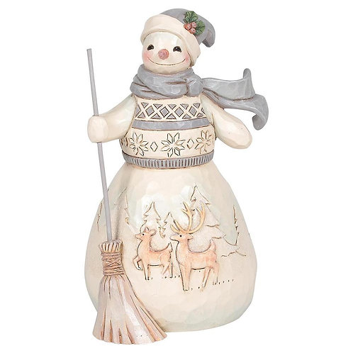 Woodland Snowman w/ Broom