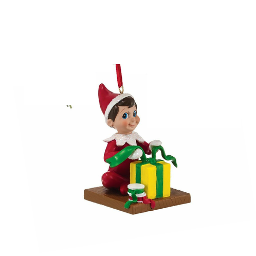 Elf on the Shelf: Elf Wrapping Presents Ornament