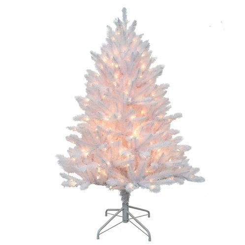 6.5' White Christmas Tree Lit or Unlit