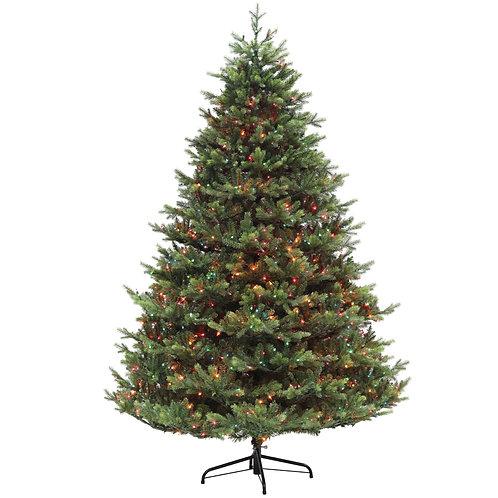 7.5' Smokey Mountain Fir Tree with LED Lights