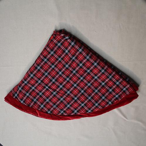 """48"""" Tailored Plaid Tree Skirt"""