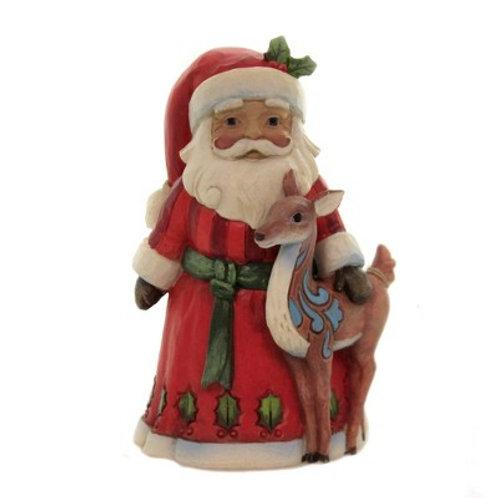 Pint Size Santa w/ Deer