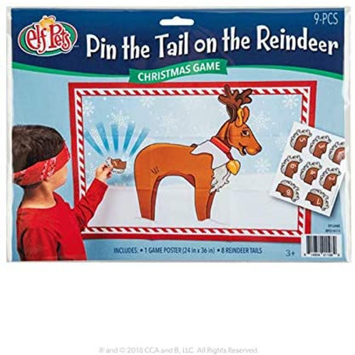 Pin the tail on the Reindeer Game