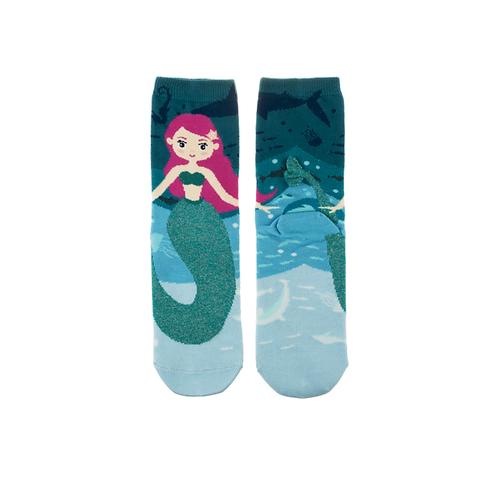 Kids Blue Mermaid Socks