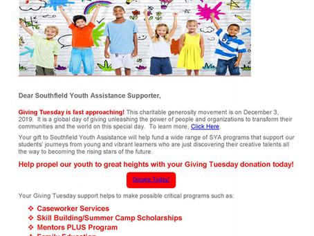 'Tis the Season for Giving ~ Giving Tuesday Dec. 3rd