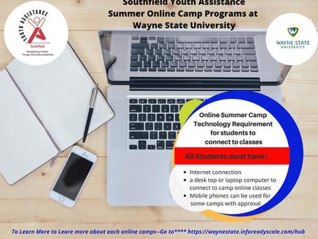 Summer Online Camp at Wayne State University