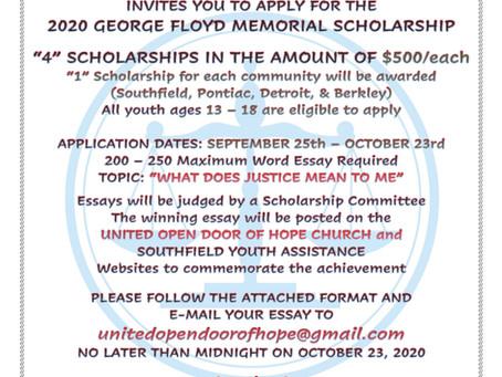 2020 George Floyd Memorial Scholarship Awards