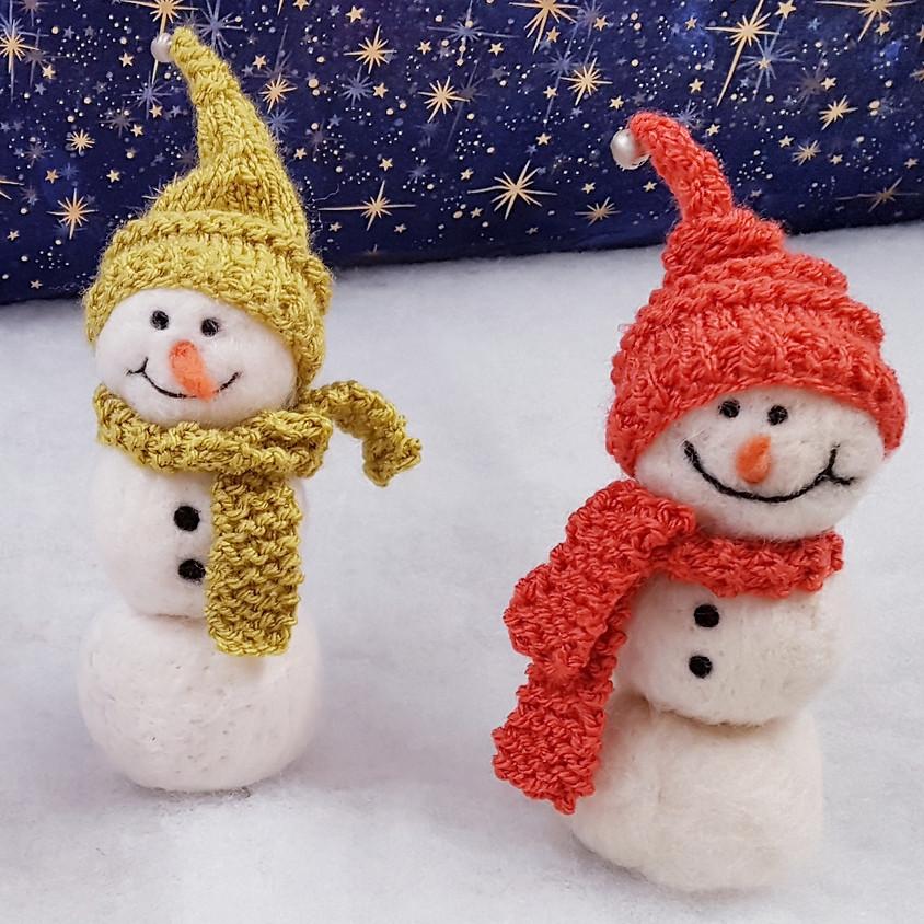 3-D Felted Snowman