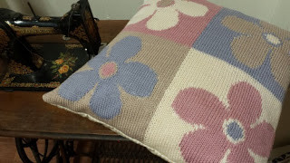 Quattro Flora: One of Joyce's knitted creations