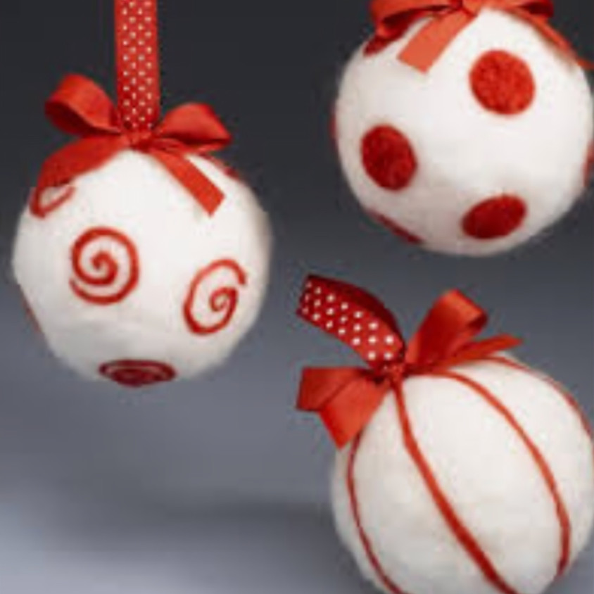 Needle-Felted Baubles