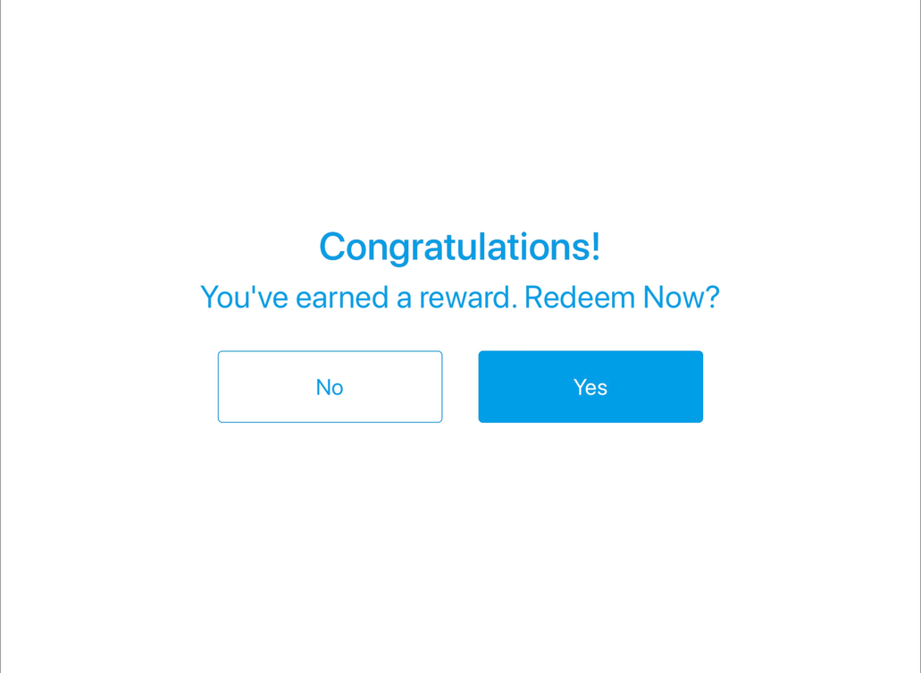 Customer can redeem points