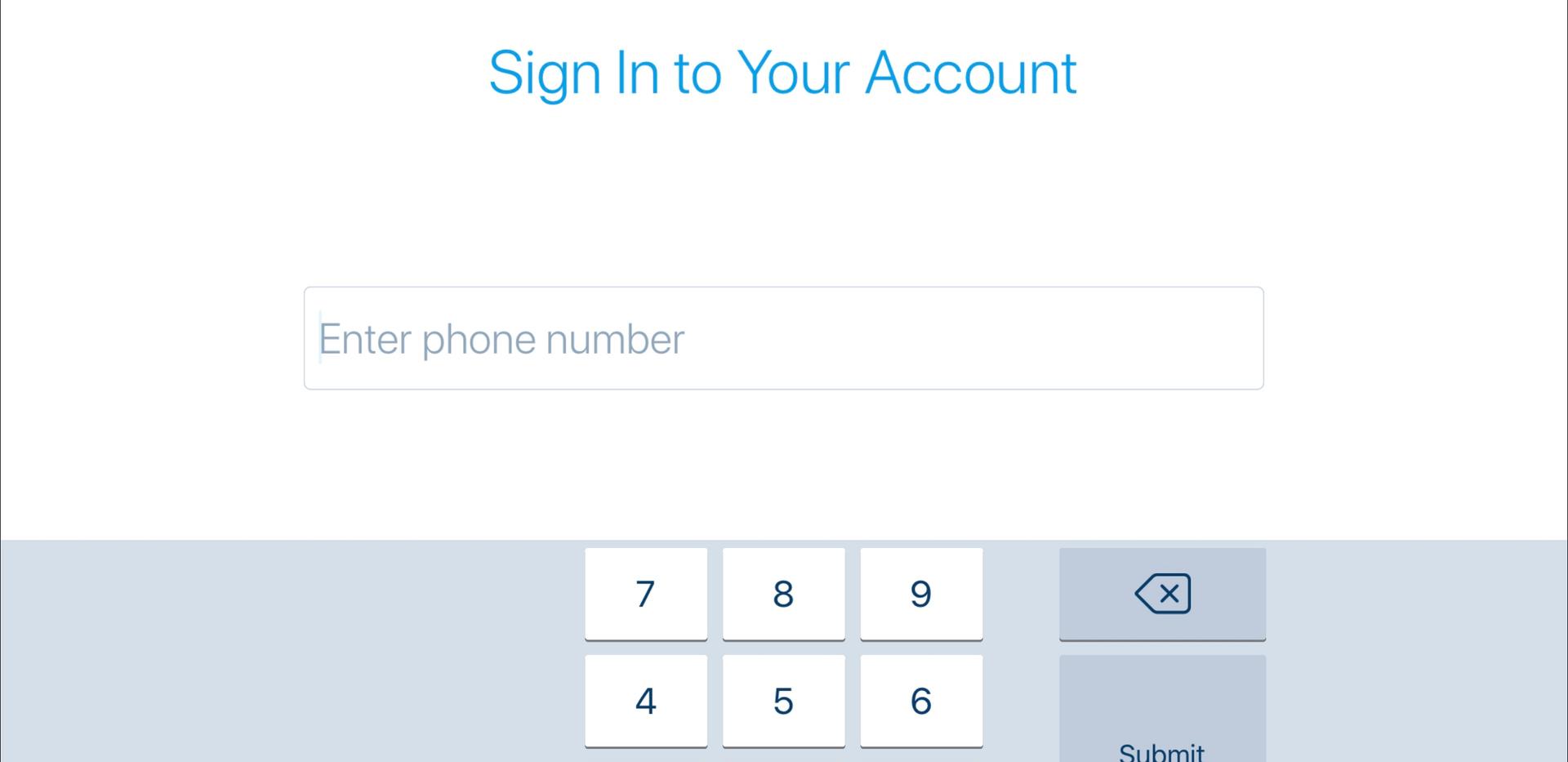 Enter Phone Number