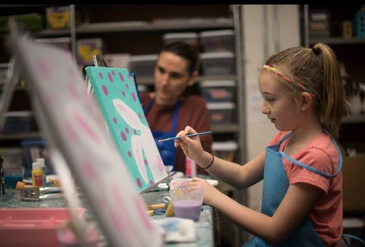 """""""Big & Little"""" Painting Class with Sarah"""