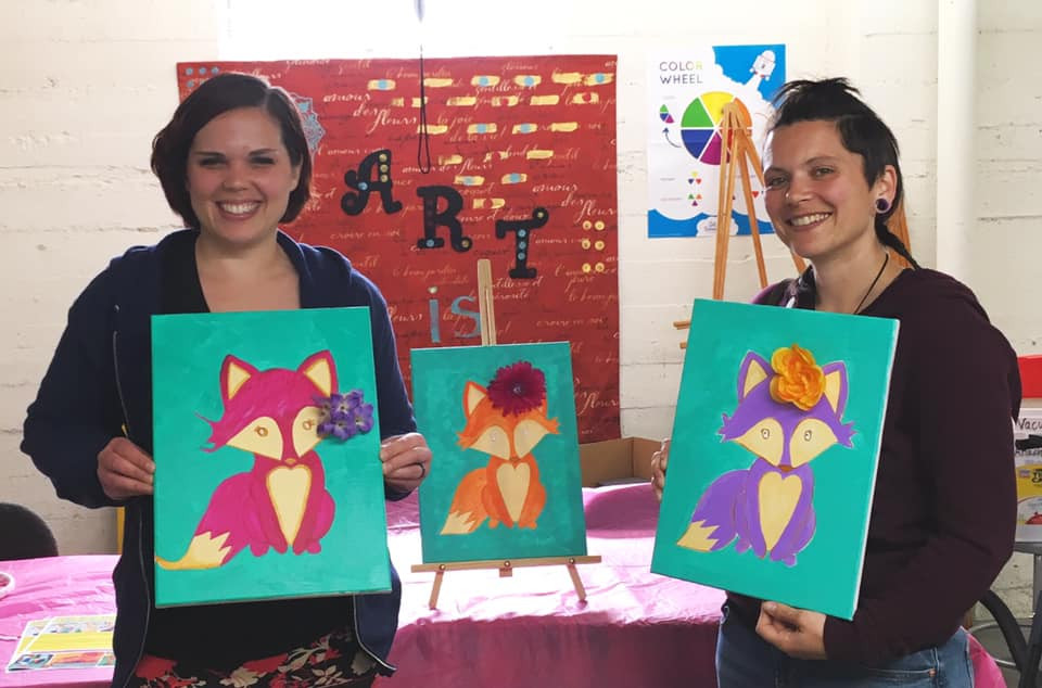 Mixed Media Painting Class with Yaz