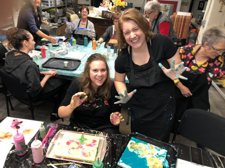 Fluid Paint Class with Sherry