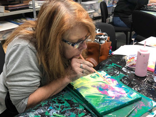 Fluid Painting Class with Sherry Wagner