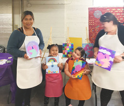 Mommy & Me Mixed Media Class with Sarah & Yaz