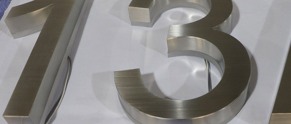 Top quality brushed house number stainless steel backlit letter changeable light