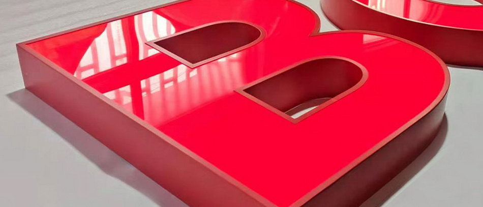 Customized LED Channel Letter Red Painted Luminous Signage Stainless Steel PMMA