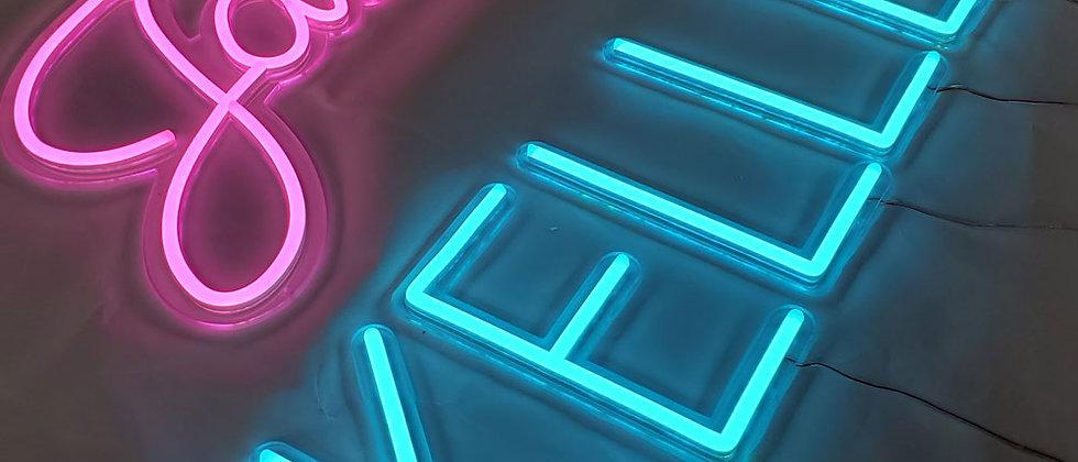 Custom luminous handcrafted acrylic neon light colorful led logo letter