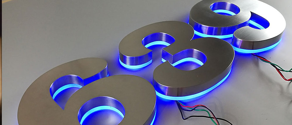 Manufacturers Indoor customized advertising RGB metal backlit letters sign