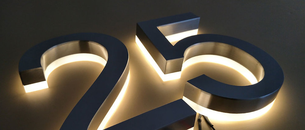 Advertising 304 type stainless steel backlit signs led letter exterior sign