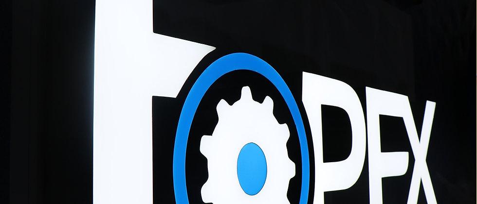 Waterproof outdoor stainless steel 3d frontlit letters advertising signs