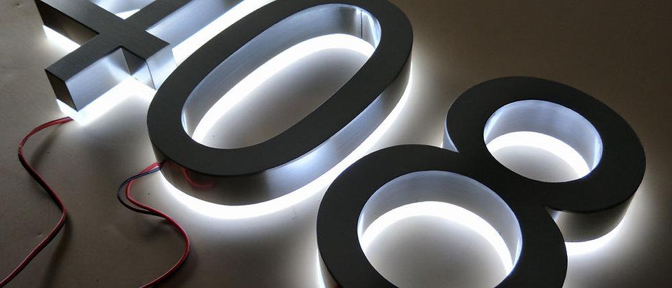 Professional Custom led  backlit letter sign alphabet lighted letter signs