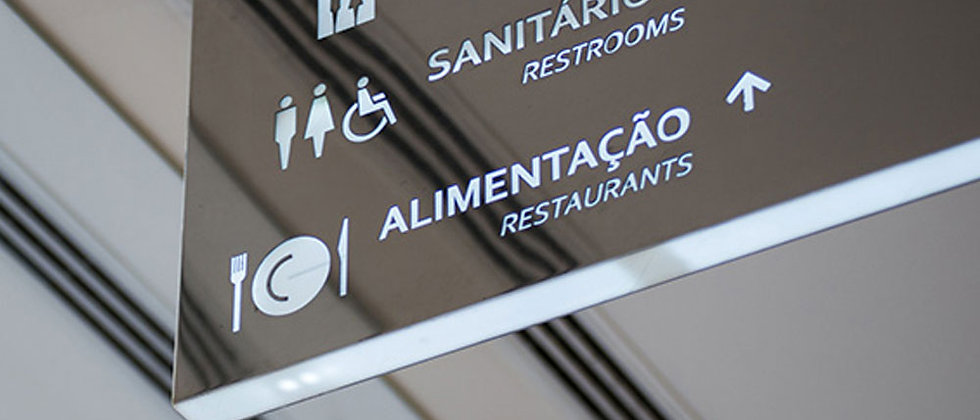 Stainless Steel plaques Indoor Wayfinding Signage For Hospital Security