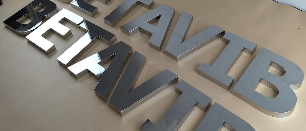 Custom made 3d letters mirror stainless steel channel letters chrome signs logo