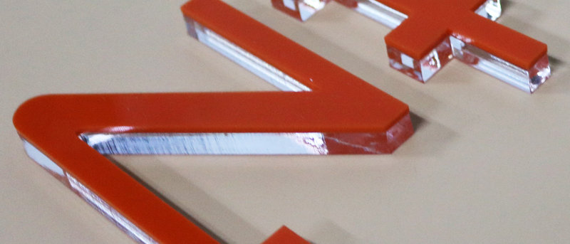 Indoor Acrylic cut letters PMMA material laser cut logo adhesive letter for sign