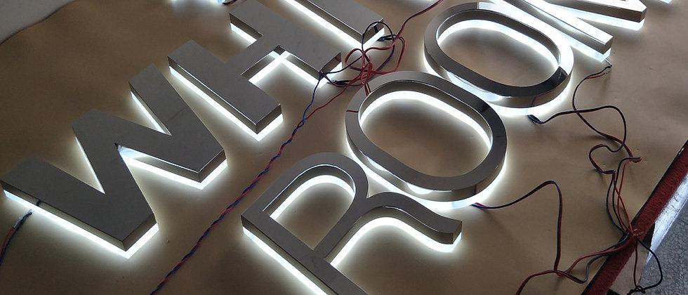Professional Custom led halo backlit letter sign alphabet channel letter backlit