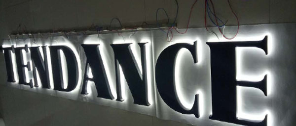 Pofessional Halo lit channel letters for exterior business signage