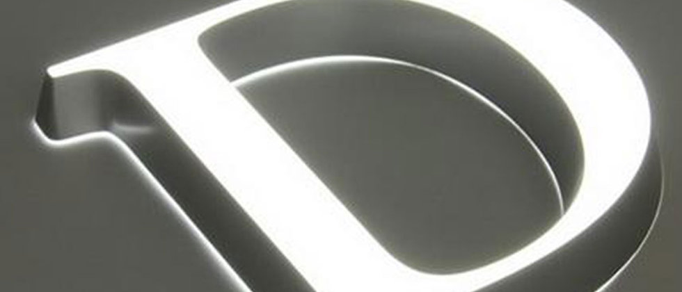 Customized advertising acrylic front led mini letters doordash light up sign