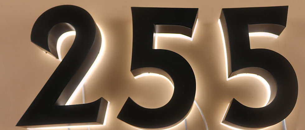 Wholesale Outdoor waterproof painted stainless steel backlit letter house number