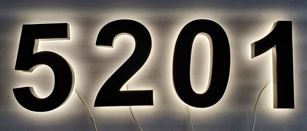 personalized stainless steel door numbers led sign letter warm light