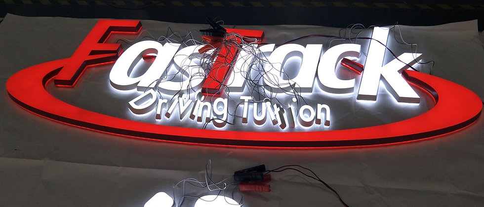 Custom 3D Acrylic LED Letters sign Outdoor customized Advertising Business logo