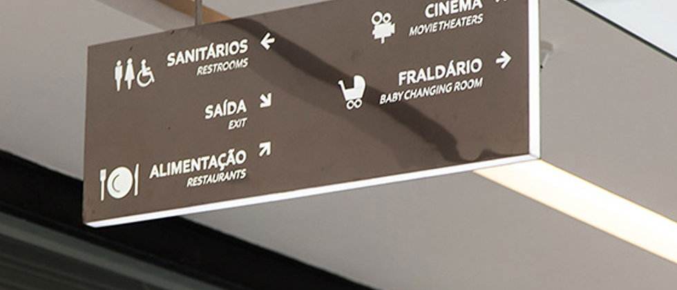 Architectural Signage   Wayfinding Signs l airport wayfinding light signage