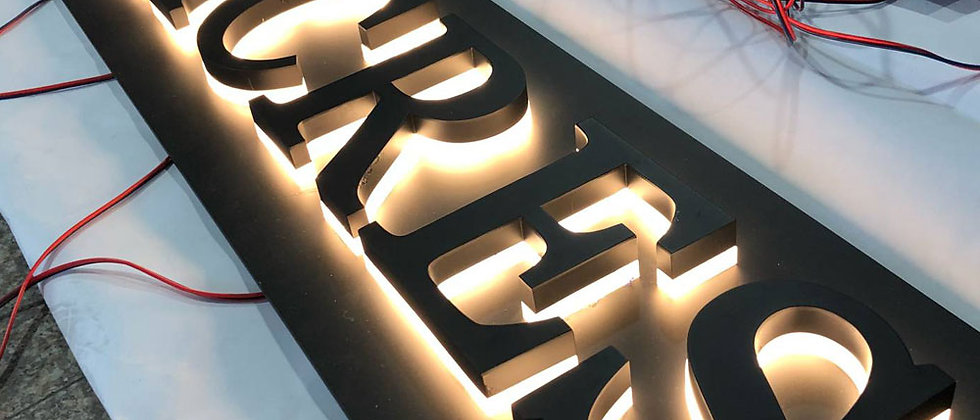 Professional Custom led backlit letter sign alphabet lighted letter signs