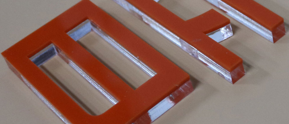 Wholesale Painted acrylic cutting letters PMMA adhesive letters for signs