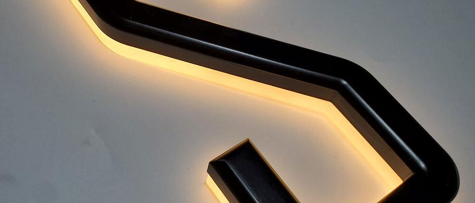 luminous backlit bamboo/acrylic led letter slim shop decoration warm light