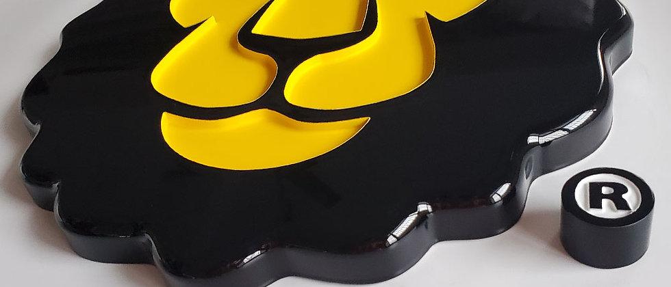 designed corrosion-resistant vacuum coating acrylic sign logo lion shopfront log