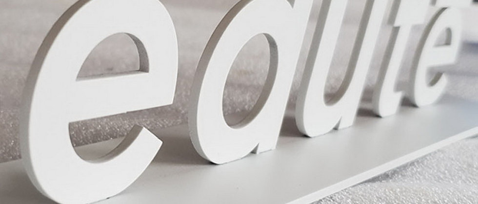 Stainless steel metal cut letters 3D freestanding name signs cabinet sign painte